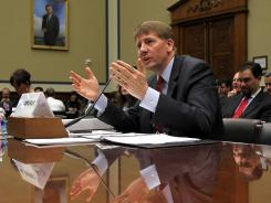 Consumer Financial Protection Bureau chief Richard Cordray testifies Tuesday before a subcommittee of the House Oversight and Government Reform Committee.