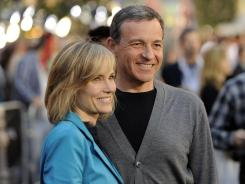 "Disney CEO Robert Iger with wife Willow Bay at the premiere of ""Pirates of the Caribbean: On Stranger Tides"" at Disneyland in May."