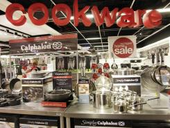 Calphalon cookware is displayed at a J.C. Penney store in New York City on Oct. 27, 2011.