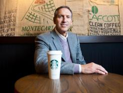 Starbucks CEO Howard Schultz in a Seattle store in February 2011.