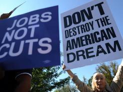 Frustrated Americans of many different political stripes have protested in 2011 against economic conditions.