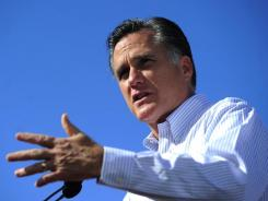 Mitt Romney campaigns in Jacksonville on Thursday.