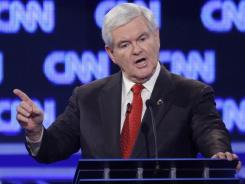 GOP presidential hopeful Newt Gingrich goes on the attack Jan. 19 after CNN's John King asks for reaction to his ex-wife's allegation that he demanded an open marriage. Don't follow Gingrich's lead if you're asked an uncomfortable question in a job interview.