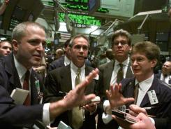 Trading by stock specialists in Avon shares on the floor of the New York Stock Exchange.