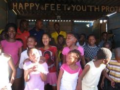 Participants of the Happy Feet Dance Project in the Langa township section of Cape Town, South Africa.