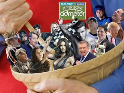 Clockwise from top left, Elton John, Matthew Broderick, Members of Motley Crue, David Beckham, Troy Aikman, Apolo Ohno, Jerry Seinfeld, Donald Trump, Mark Cuban, Regis Philbin, Adriana Lima, Danica Patrick, Jay Leno.