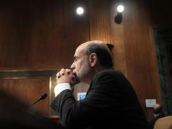 Federal Reserve Board Chairman Ben Bernanke testifies during a hearing before the Senate Budget Committee on Feb. 7, 2012 on Capitol Hill in Washington, D.C.