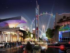 An artist's rendering of the $550 million Caesars Entertainment Linq project in Las Vegas.
