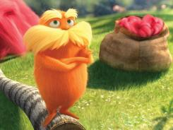 "The character known as The Lorax, voiced by Danny DeVito, is shown in a scene from the animated film, ""Dr. Seuss' The Lorax,"" set for release March 2. Universal Pictures has lined up eco-friendly launch partners that include for the first time the U.S. Environmental Protection Agency and Whole Foods Market."