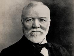 Steel magnate Andrew Carnegie.