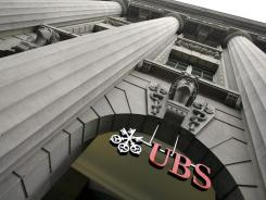 The logo of Swiss Bank UBS on Zurich's Bahnhofstrasse, Switzerland in 2008 . The nation has many banks with clients from around the world whose identities are kept secret.
