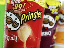 Pringles chips photographed on the shelves of a West Bath grocery store in April 2011.