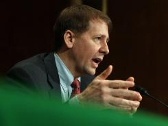 Richard Cordray, director of the Consumer Financial Protection Bureau, testifies Jan. 31 before Congress.