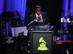 Producer Sean 'Diddy' Combs onstage at Clive Davis and the Recording Academy's 2012 Pre-Grammy Gala in Beverly Hills, Calif., on Feb. 11, 2012.