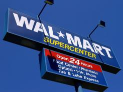The WalMart Supercenter sign in Springfield, Ill.