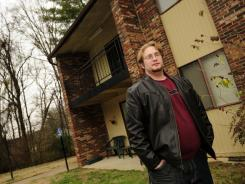 Would-be renter Doug Richesin checks out an apartment complex in Nashville.