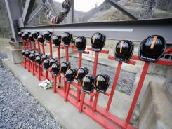An on-site memorial last year to the 29 mine workers who were killed in the 2010 blast.