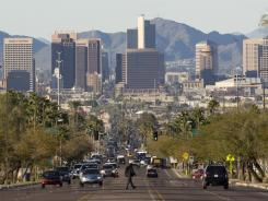 A view of downtown Phoenix.