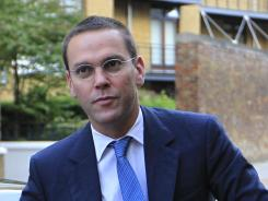 James Murdoch arrives at News International headquarters in London in this file photo.