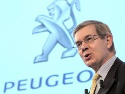 Peugeot Citroen chief executive Philippe Varin speaks at a press conference announcing 2009 results in this file photo.