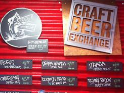Signage at a Sunoco Craft Beer Exchange station.