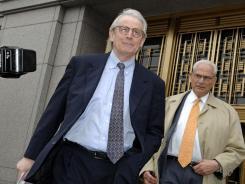 David Stockman, left, in Manhattan in 2007.