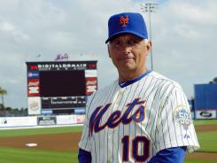 New York Mets manager Terry Collins during photo day on March 2, 2012, at Digital Domain Park in Port St. Lucie, Fla.