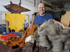 Jerry Bogart, a former actuary and executive at Principal Financial, wanted his own business and bought Specialty Leathers. Bogart said it is the only tannery in the United States turning hides from African animals into leather. He has finished leather from elephants, alligators, elk, deer and ostriches.