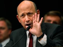 Lloyd Blankfein, chairman and CEO of Goldman Sachs, testifies on Capitol Hill on April 27, 2010 about the role of investment banks during the Wall Street financial crisis.