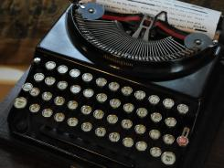 A typewriter is prominent in Margaret Mitchell's restored apartment where she wrote 'Gone With The Wind.'
