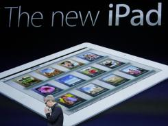 Apple CEO Tim Cook announces the release of latest iPad.