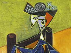 Pablo Picasso's 1941 portrait of Dora Marr, 'Femme assise dans un fauteuil,' is among the Forstmann items to be auctioned May 2, in New York.