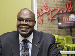McDonald's President Don Thompson will take over the world's biggest hamburger chain on July 1.