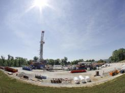 "A Range Resources well site that uses the ""fracking"" extraction method in Washington, Pa."