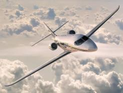 A Cessna Citation Latitude.