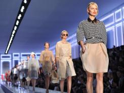 Models during last year's Christian Dior Ready to Wear Spring/ Summer 2012 show in Paris.