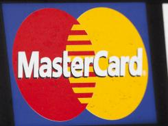 A sign for MasterCard in New York on March 19, 2012.