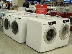 The appliance department at a Sears store in Oak Brook, Ill., in September 2010. In February, consumer spending rose 0.8%, mostly with purchases of autos, appliances and clothing.