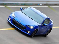 The 2013 Subaru BRZ roars like a hungry beast.