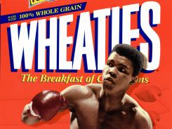 A Wheaties box featuring boxing legend Muhammad Ali.