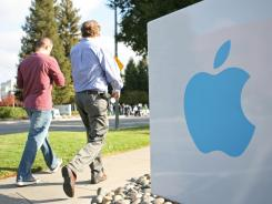 Apple has helped boost technology funds in the first quarter of 2012.