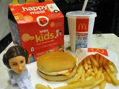 "A McDonald's Happy Meal with a ""Star Wars"" toy in 2010."