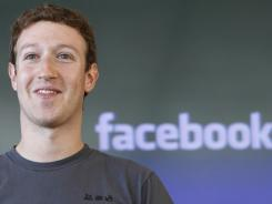 Facebook CEO Mark Zuckerberg during a meeting in San Francisco in October 2011.