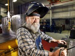 Tool and die maker Daniel Sigman, 62, at Overton Industries in Mooresville, Ind., near Indianapolis.