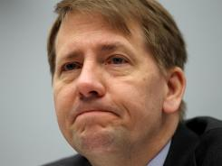 Director of the Consumer Financial Protection Bureau Richard Cordray testifies during a hearing before the House Financial Services Committee March 29, 2012, on Capitol Hill in Washington, D.C.