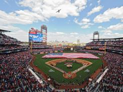Opening day at the Philadelphia Phillies' Citizens Bank Park on April 9, 2012.
