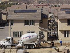 New single-family homes are being built by Lennar at the Aria at West Creek development in Santa Clarita, Calif. in March.