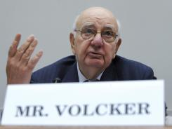 Former Fed chairman Paul Volcker testifies before the House Financial Services Committee in September 2009.