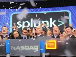 Shares of data analysis firm Splunk jumped 109% in its first day of trading.