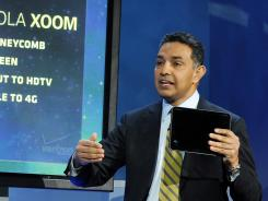 Motorola Mobility's Sanjay Jha at the 2011 Consumer Electronics Show in Las Vegas.